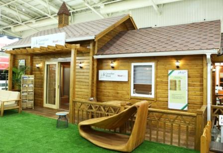 Fully Functional Wood Houses made with Canadian Wood - 1