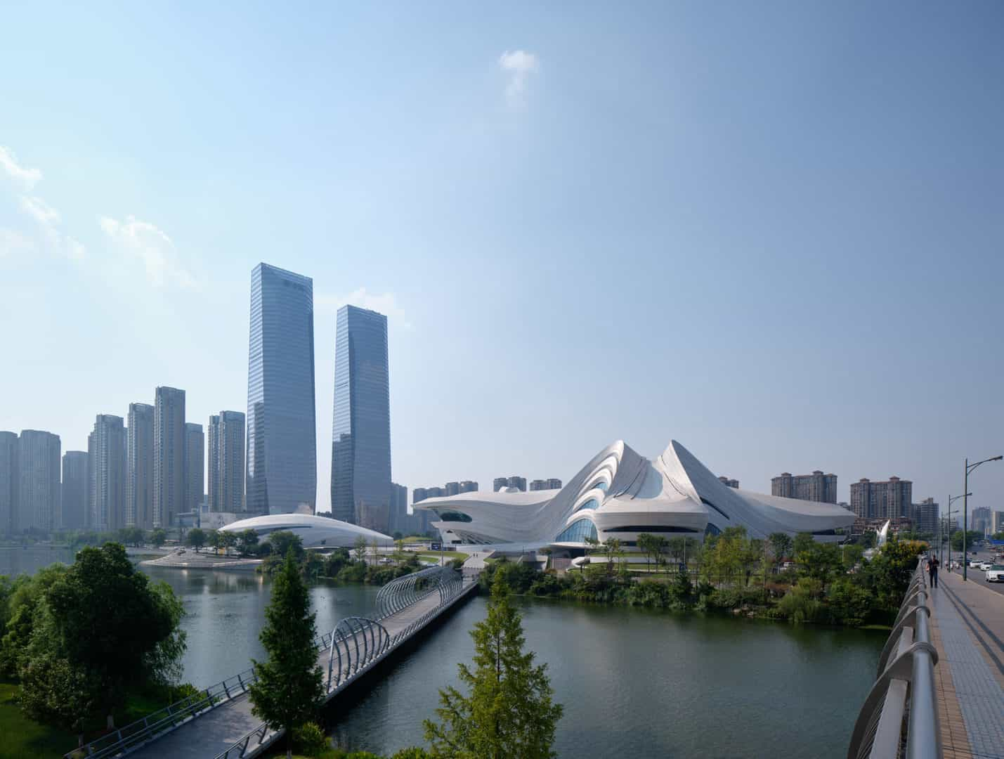 Zaha Hadid Projects -World Architecture Community Awards 2020 - Changsha Meixihu International Culture and Art Centre - 2