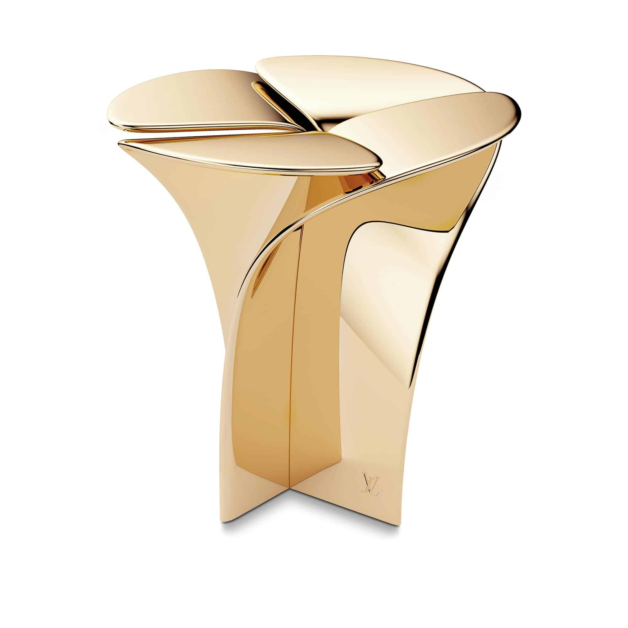 louis-vuitton--BLOSSOM STOOL METAL BY TOKUJIN YOSHIOKA - gold