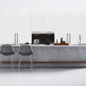 Arclinea Island Kitchen - Lignum Et Lapis Is A Sculpture Carved In Stone And Wood