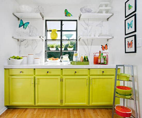 Summer Decor Trends For 2020_The-Candy-Apple-Green-Cabinets
