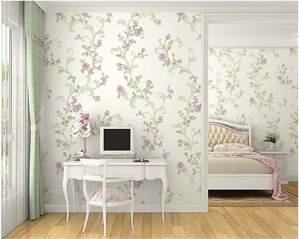 Summer Decor Trends For 2020_floral wallpaper