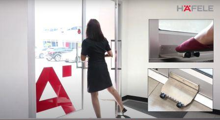 Touch-less Door Exit Solution From Hafele