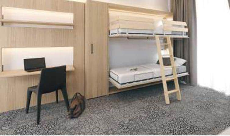 Hafele Duoletto Built-in foldaway bed | Hafele Hotel Assortment