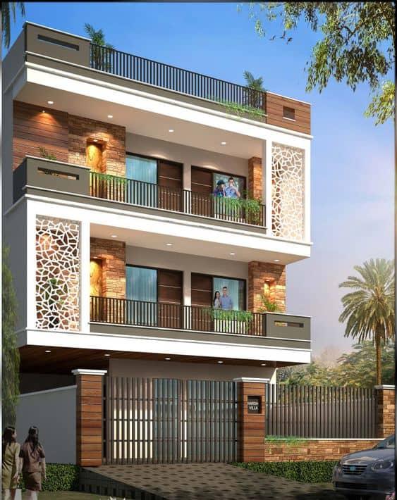 jaali elevation designs photos