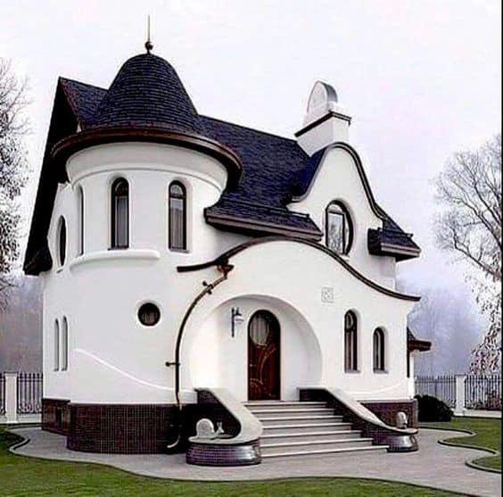 black and white unique elevation design images