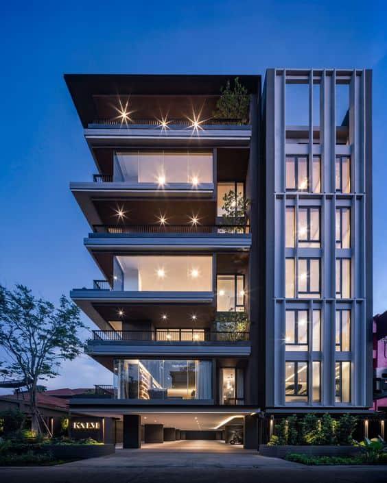 house front elevation design images for multi-storey building