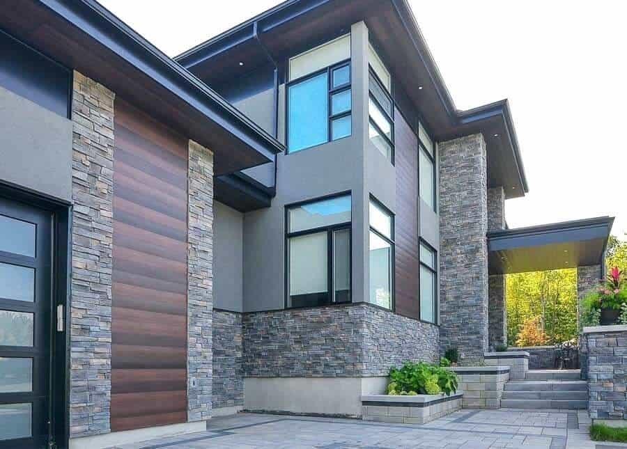 stone cladding bungalow