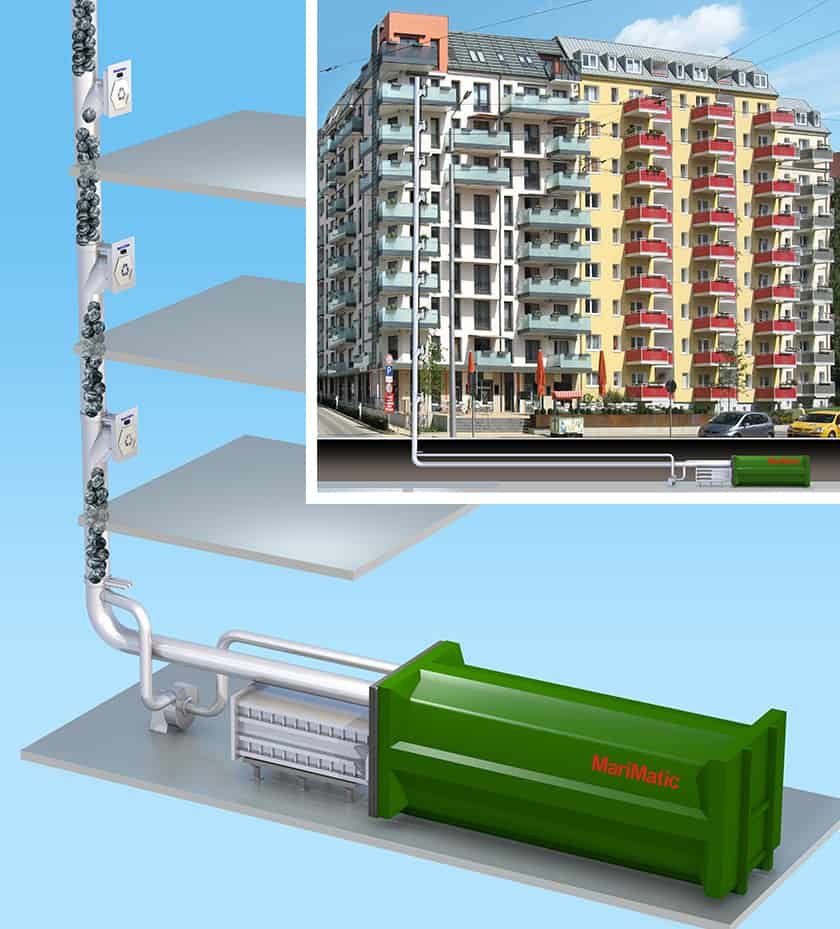 Automatic Waste Collection Systems _ high-rise buildings