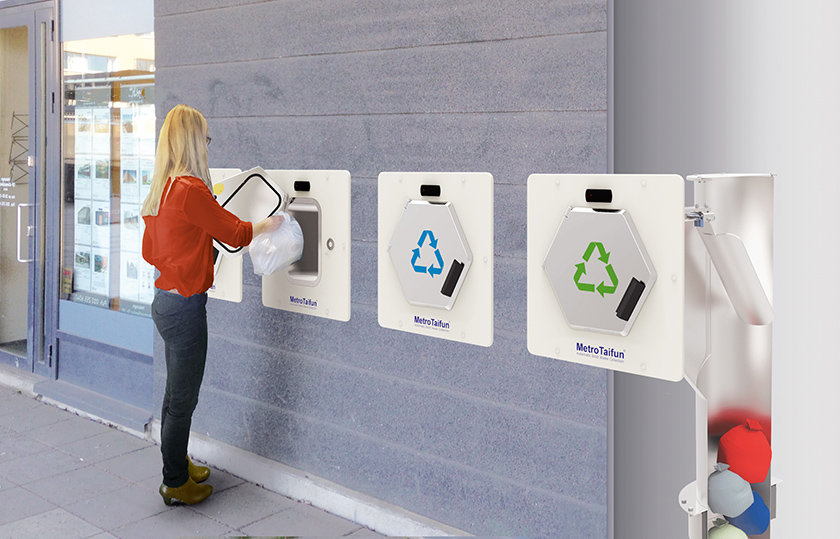 Automatic Waste Collection Systems_wall fitted
