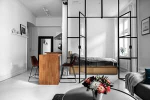 interior design - minimalistic furniture for space illusion
