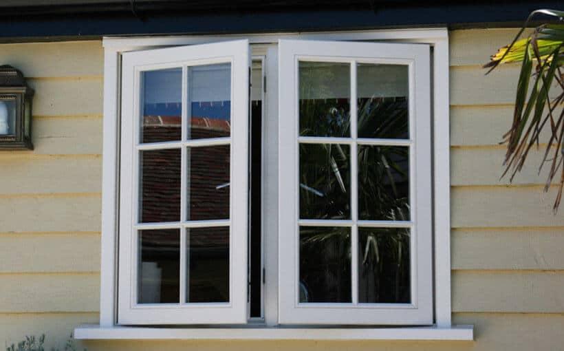 UPVC windows - casement window in white colour