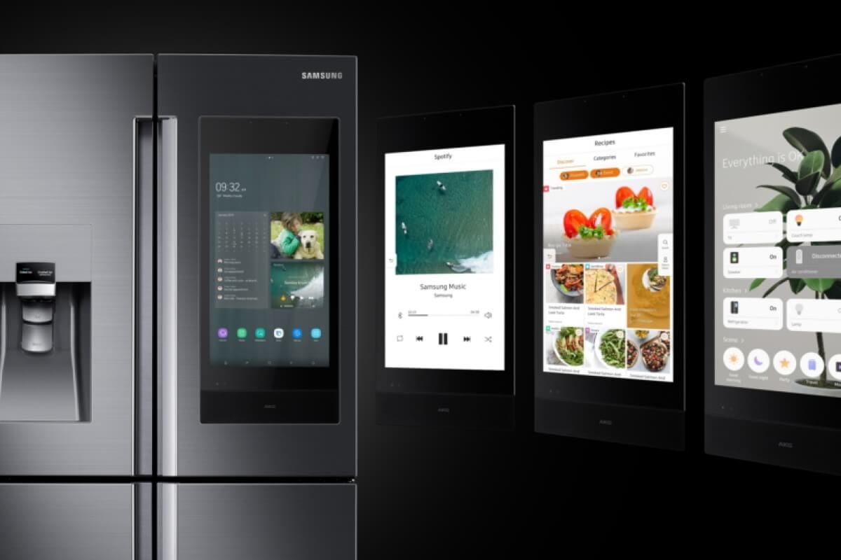 Samsung Smart Fridge is a Wi-Fi enabled smart kitchen appliance.