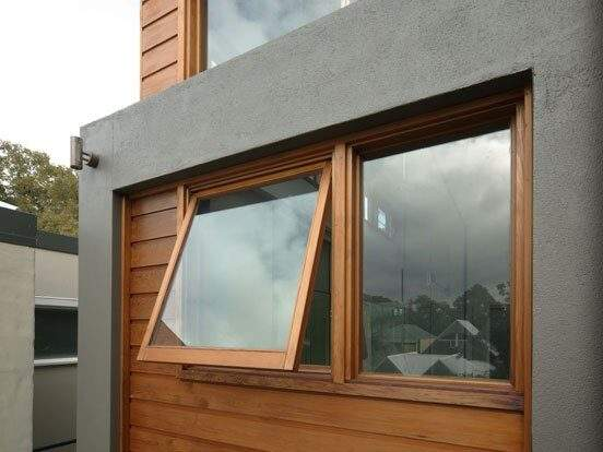 Awning UPVC Windows in Brown Colour
