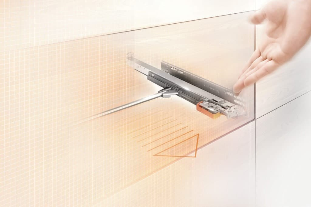 blum movento runner system for cabinets and shelves