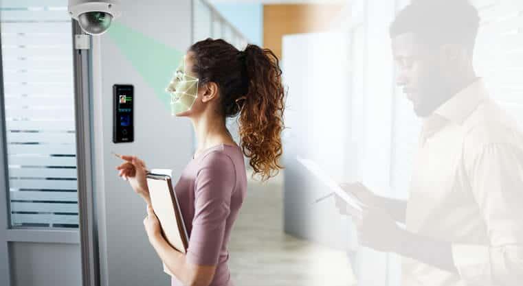 Matrix face recognition for automatic door sensor barrier system and digital locks