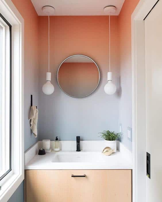 Ombre modern bathroom design