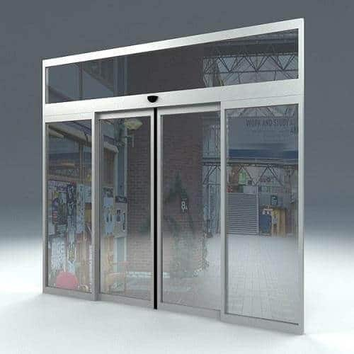 ozone automatic sliding door system access control for sensor barrier