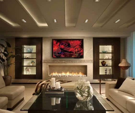 living room false ceiling.