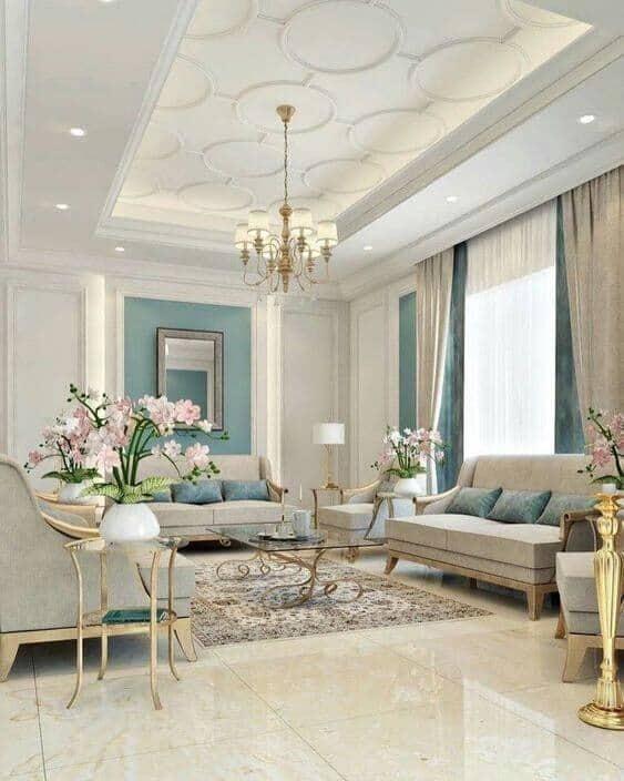 living room simple false ceiling