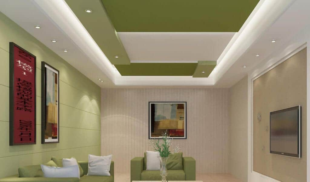 colour contrast false ceiling