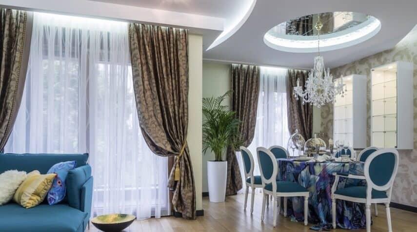 White false ceiling design for living rooms