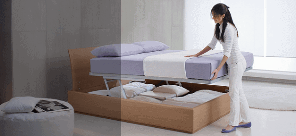 Hafele Push-To-Open Hideaway Bed System