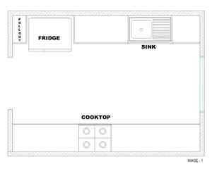 Modular Kitchen - Ideal layout