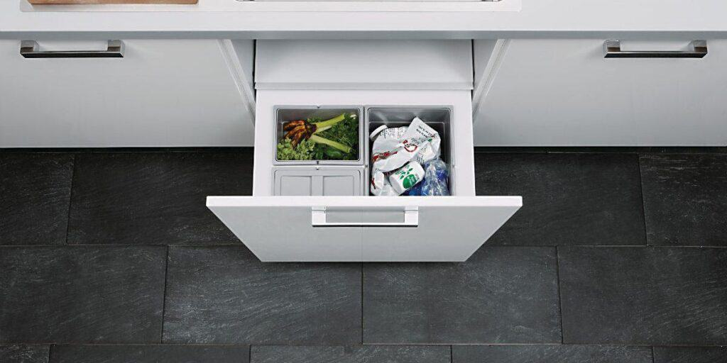 Waste disposal in a modular kitchen