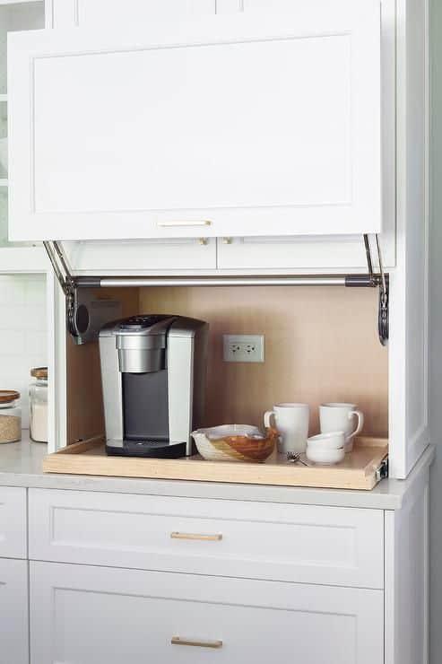 Modular kitchen appliance garage