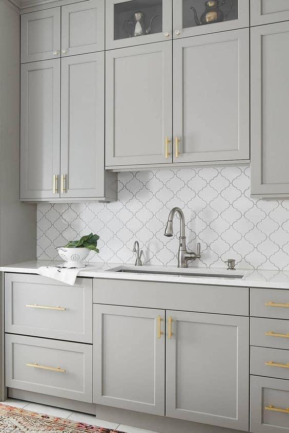 Small Modular Kitchen Backsplash