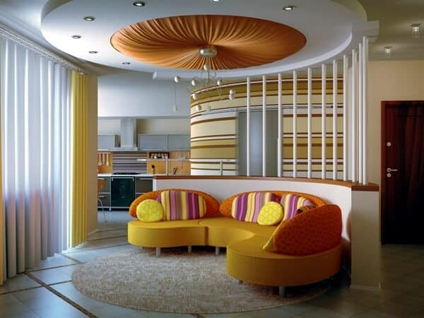Canopy living room false ceiling