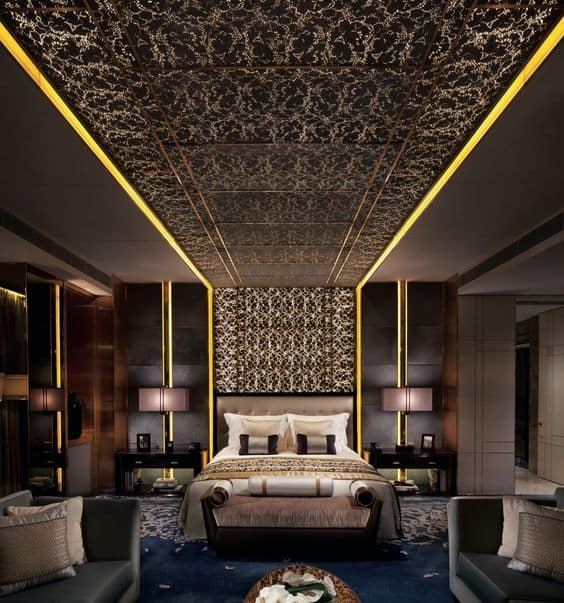 extended panel false ceiling design for bedroom