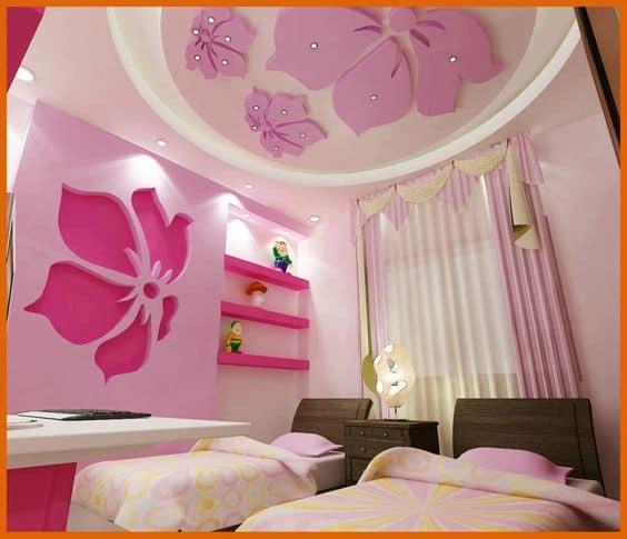 false ceiling design for children's bedroom