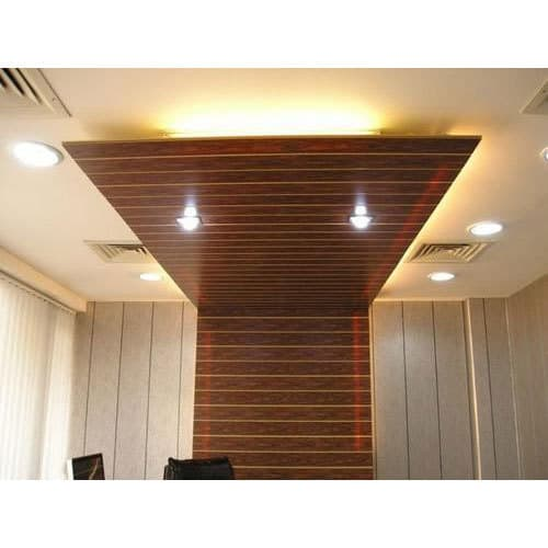 wooden texture pvc false ceiling