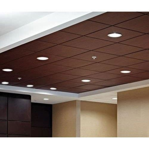 PVC false ceiling with recessed light