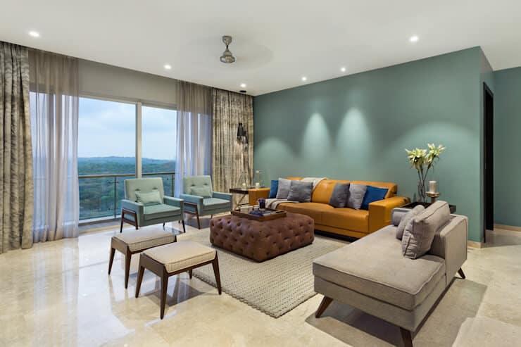 Subtle tones for false ceiling ideas for living room