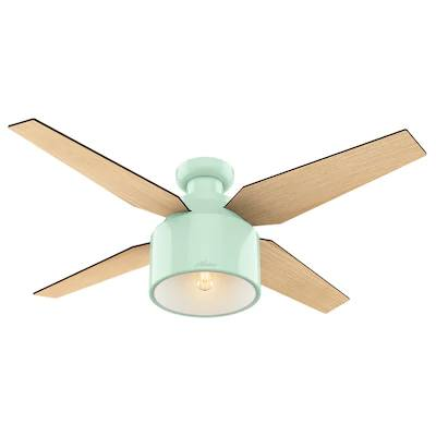 Innovative fan colours in light green green and wooden texture