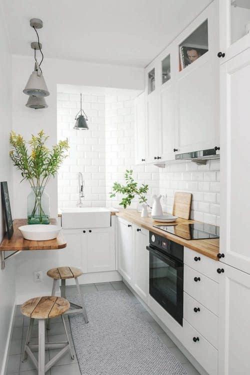 l shaped small modular kitchen design