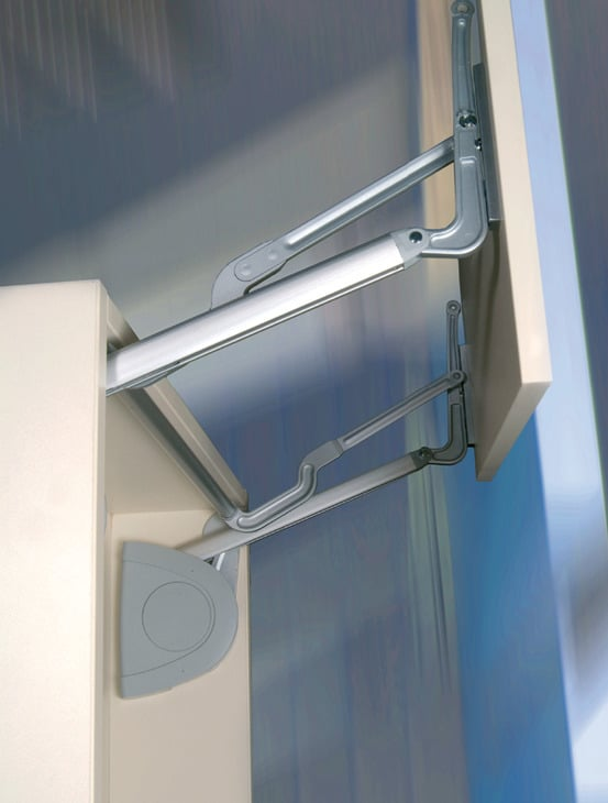 Lift-up drawer hinges