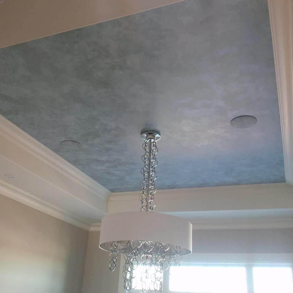 metallic finish false ceiling design for bedroom