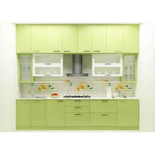 Straight shaped small modular kitchen