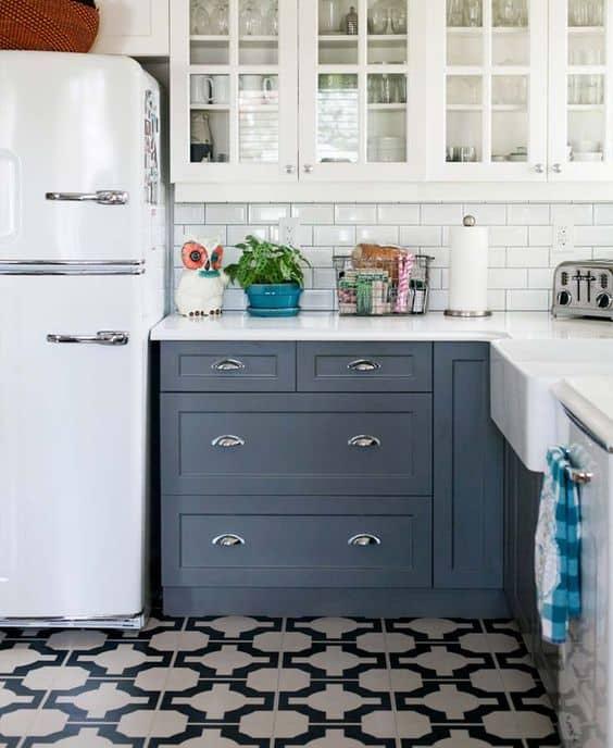 vinyl flooring for small modular kitchen
