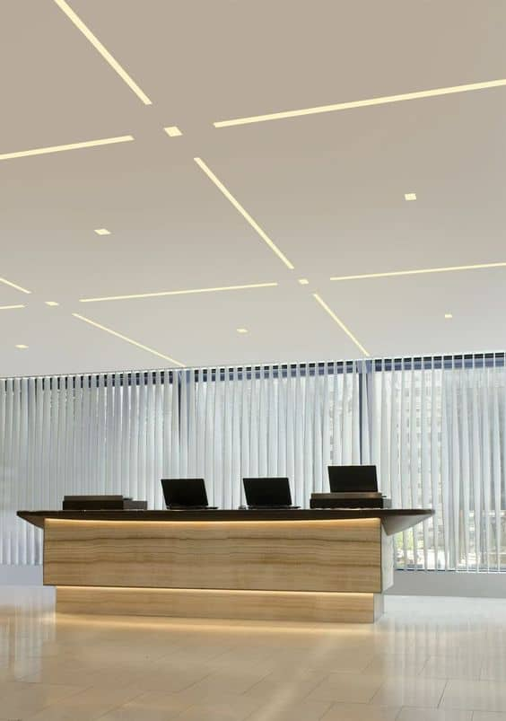 LED false ceiling lighting for reception