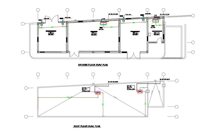 HVAC systems diagram layout plan for building