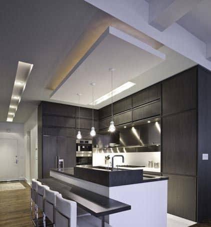suspended false ceiling design for kitchen