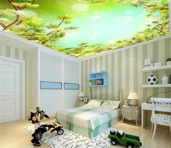 false ceiling wallpaper