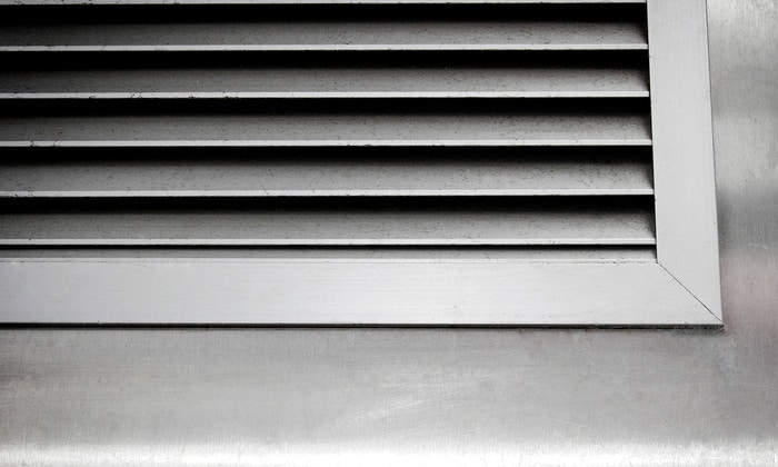 duct for ventilation and air conditioning of the HVAC system & thermostat