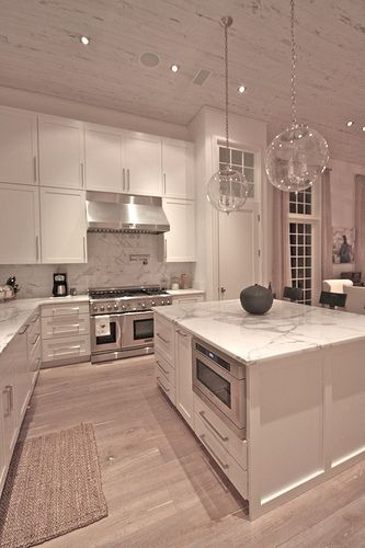 Neutral colour modular kitchen