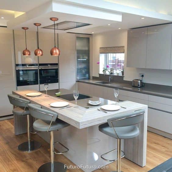 Suspended modern false ceiling design for kitchen